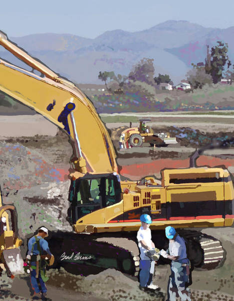 Construction Painting - Hollister by Brad Burns