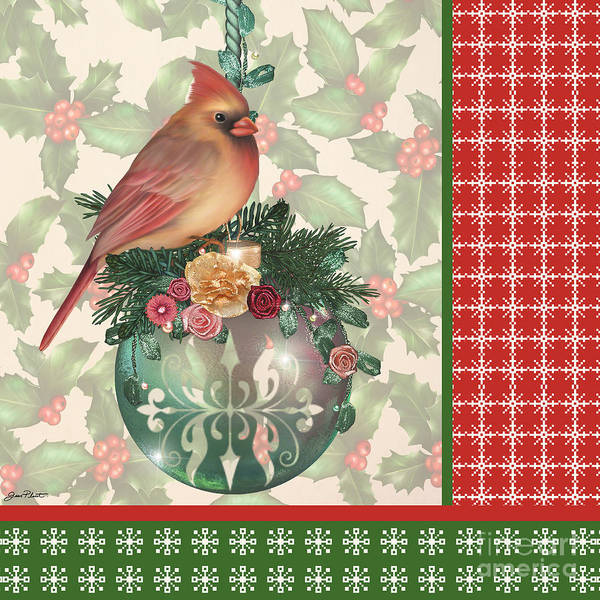Holly Digital Art - Holly And Berries-a by Jean Plout