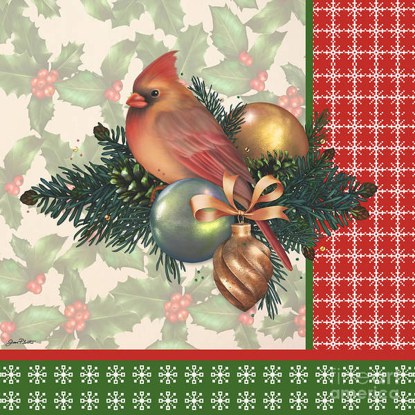 Holly Digital Art - Holly And Berries-c by Jean Plout