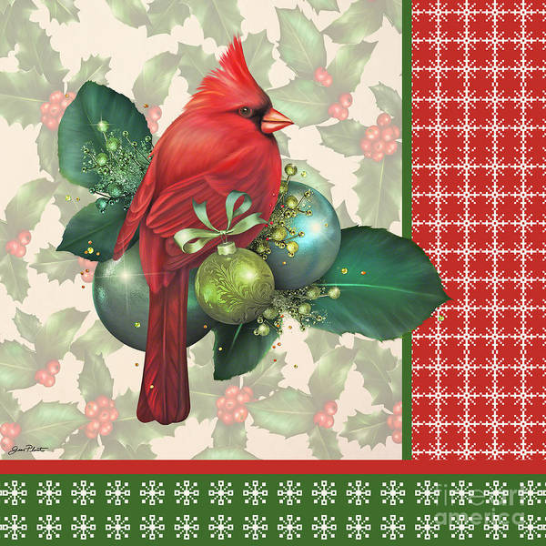 Holly Digital Art - Holly And Berries-d by Jean Plout