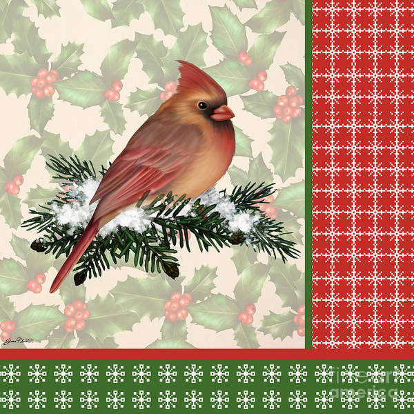 Holly Digital Art - Holly And Berries-f by Jean Plout