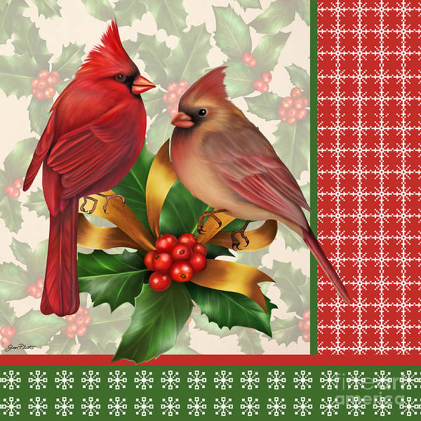 Holly Digital Art - Holly And Berries-g by Jean Plout