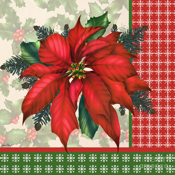 Holly Digital Art - Holly And Berries-h by Jean Plout