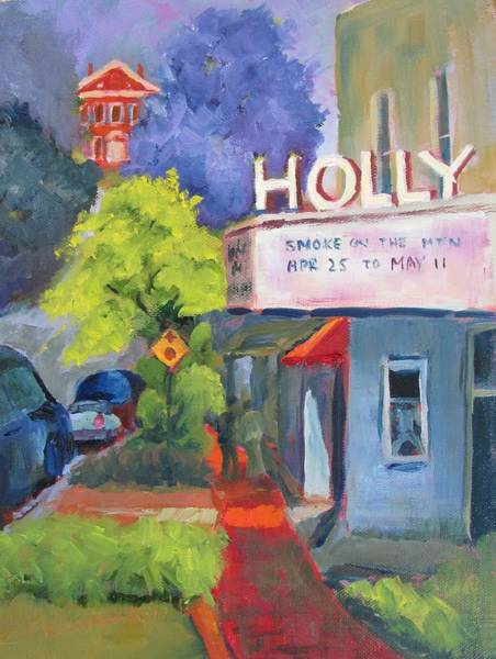 Courthouse Painting - Holly Theatre by Susan Richardson