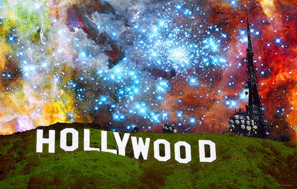 Wall Art - Painting - Hollywood 2 - Home Of The Stars By Sharon Cummings by Sharon Cummings
