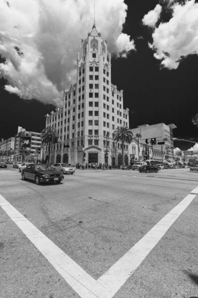 Photograph - Hollywood And Highland Black And White by Scott Campbell