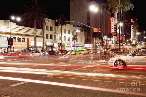Photograph - Hollywood And Highland Boulevard At Night - Stock Photo by Bryan Mullennix
