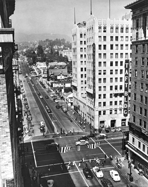 Wall Art - Photograph - Hollywood And Vine In La by Underwood Archives
