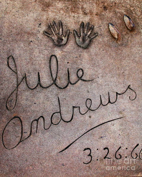 Photograph - Hollywood Chinese Theatre Julie Andrews 5d28999 by Wingsdomain Art and Photography