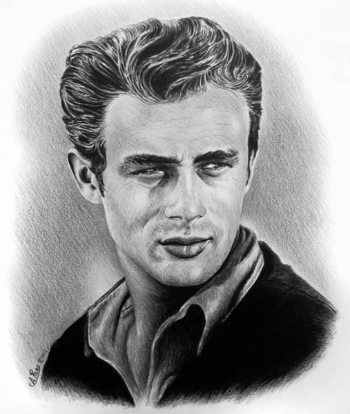 Nostalgia Drawing - Hollywood Greats James Dean by Andrew Read