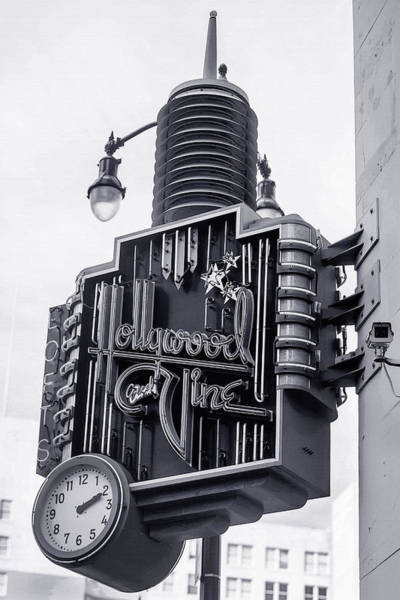 Blvd Photograph - Hollywood Landmarks - Hollywood And Vine Sign by Art Block Collections