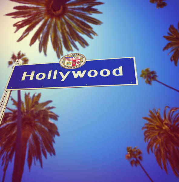 Boulevard Photograph - Hollywood by Lpettet
