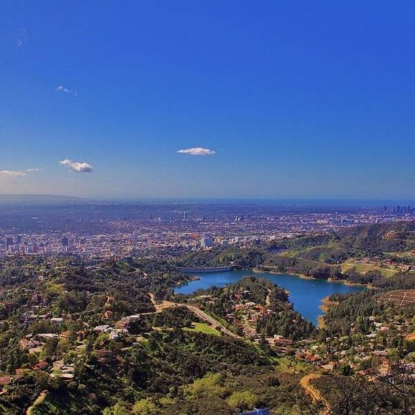 Fantasy Wall Art - Photograph - Hollywood Reservoir From The Famous by Tony Castle
