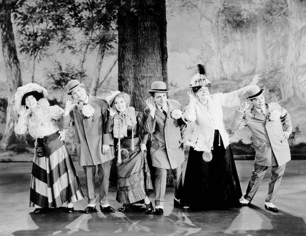 Gus Photograph - Hollywood Revue Of 1929, From Left by Everett