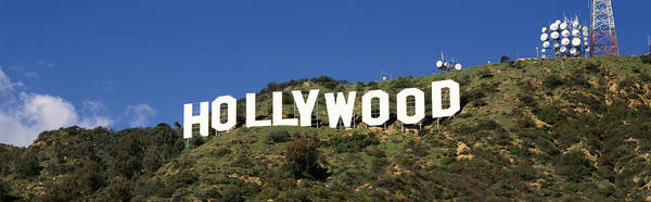 Satellite Image Wall Art - Photograph - Hollywood Sign At Hollywood Hills, Los by Panoramic Images