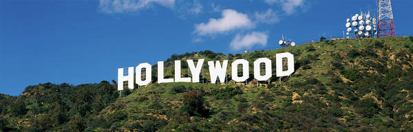 Satellite Image Wall Art - Photograph - Hollywood Sign Hollwood Ca Usa by Panoramic Images