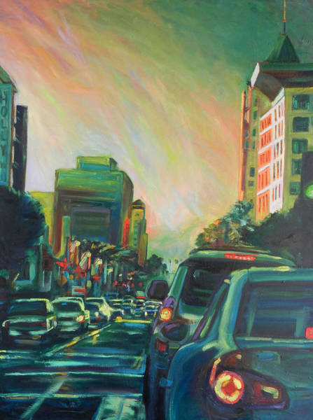 Painting - Hollywood Sunshower by Bonnie Lambert