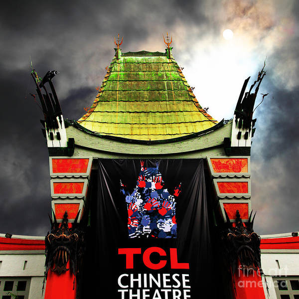 Photograph - Hollywood Tcl Chinese Theatre 5d28983 Square by Wingsdomain Art and Photography
