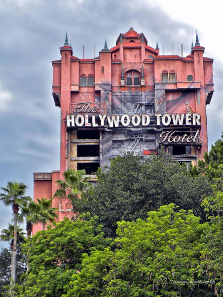 Wall Art - Photograph - Hollywood Tower Hotel Walt Disney World by Thomas Woolworth