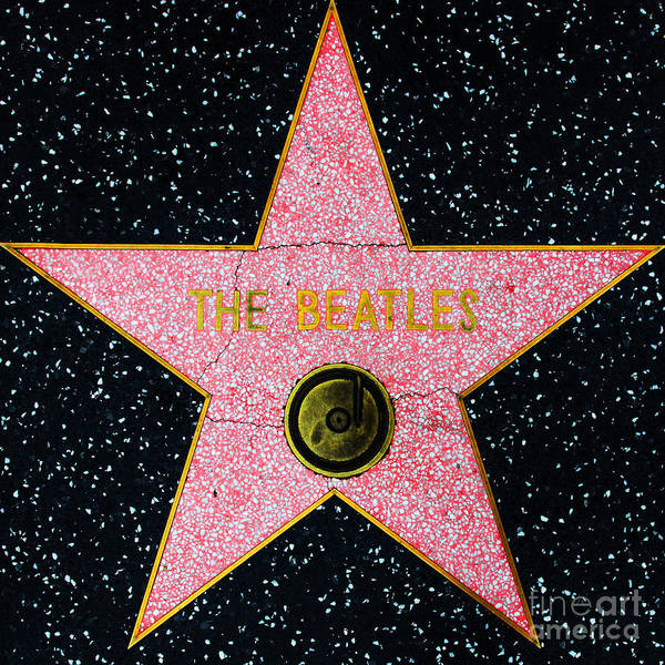 Photograph - Hollywood Walk Of Fame The Beatles 5d28922 by Wingsdomain Art and Photography