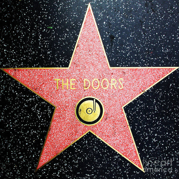 Photograph - Hollywood Walk Of Fame The Doors 5d29063 by Wingsdomain Art and Photography