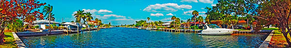 Photograph - Holmes Beach Canal Daytime by Rolf Bertram