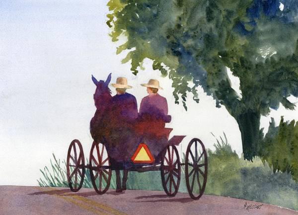 Amish Wall Art - Painting - Holmes County Ohio by Marsha Elliott