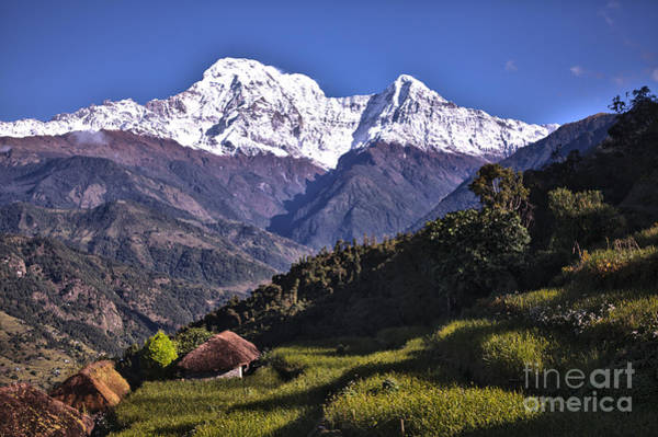 Holy Annapurna South Photo By Artmif Hdr Art Print