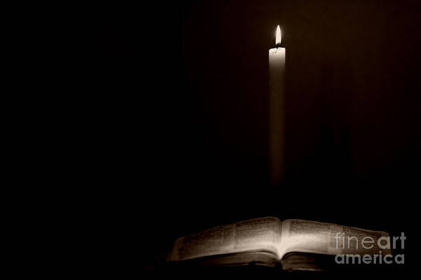 Photograph - Holy Bible Illuminated by Lincoln Rogers