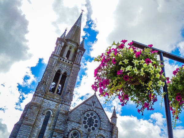 Photograph - Holy Cross Church Steeple Charleville Ireland by James Truett