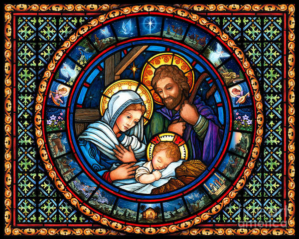 Painting - Holy Family Christmas Story by Randy Wollenmann