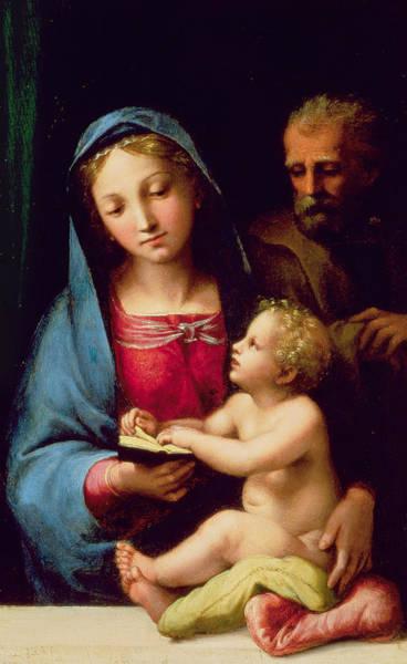Giulio Painting - Holy Family by Giulio Romano