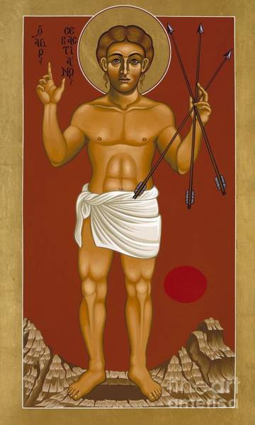 Painting - Holy Martyr St. Sebastian 032 by William Hart McNichols