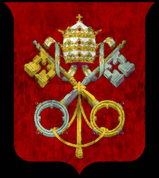 Wall Art - Digital Art - Holy See Flag by World Art Prints And Designs