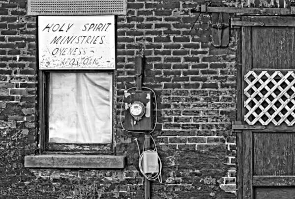 Oneness Photograph - Holy Spirit Ministries Oneness Apostolic Bw by Steve Harrington