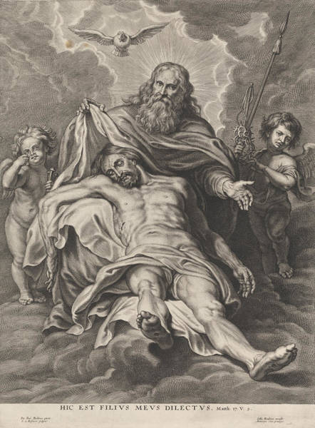 Holy Ghost Drawing - Holy Trinity And Angels With Instruments Of The Passion by Schelte Adamsz. Bolswert And Gillis Hendricx