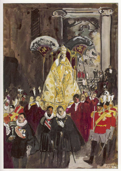 The Specials Drawing - Holy Year 1934 Pope Pius Xi Decrees by Mary Evans Picture Library