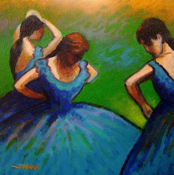 Irish Dance Painting - Homage To Degas II by John  Nolan