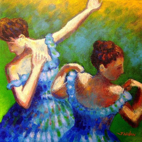 Blue Dress Painting - Homage To Degas by John  Nolan