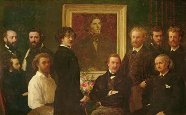 Respect Photograph - Homage To Delacroix, 1864 Oil On Canvas by Ignace Henri Jean Fantin-Latour