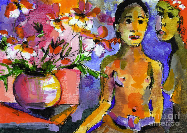 Painting - Homage To Gaugin by Ginette Callaway