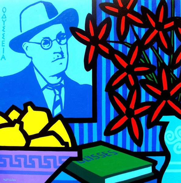 Wall Art - Painting - Homage To James Joyce by John  Nolan