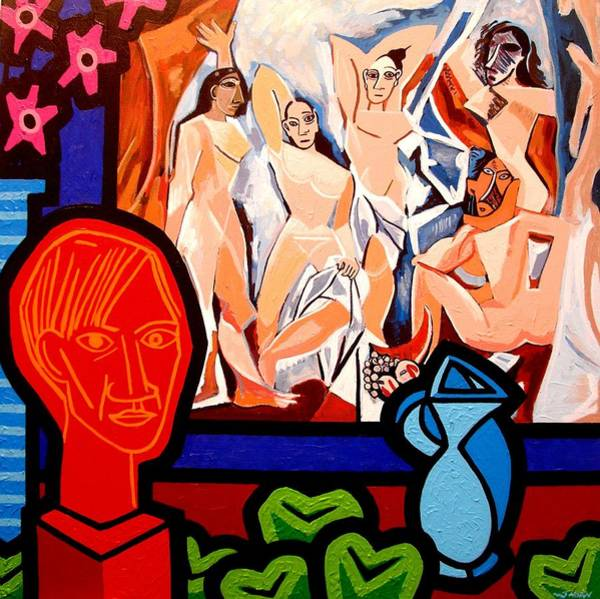 Picasso Painting - Homage To Picasso I by John  Nolan