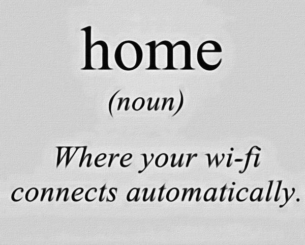 Wi Painting - Home And Wifi by Florian Rodarte
