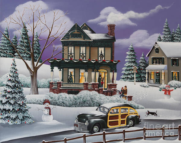 Holman Wall Art - Painting - Home For The Holidays 2 by Catherine Holman