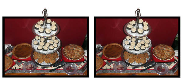 Stereogram Photograph - Home For The Holidays - Cross Your Eyes And Focus On The Middle Image by Brian Wallace