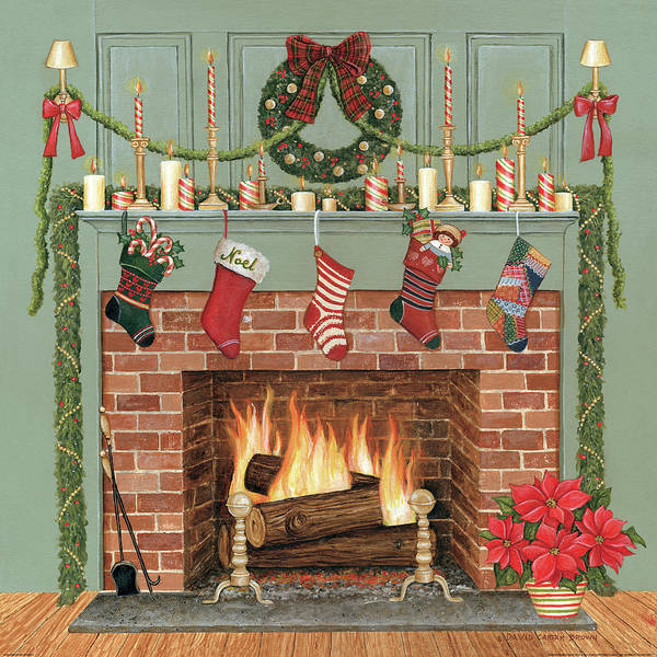 Christmas Flowers Painting - Home For The Holidays I by David Carter Brown