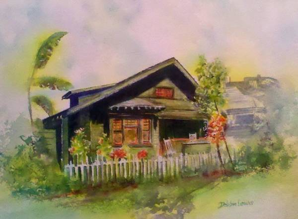 Painting - Home In Downtown Long Beach by Debbie Lewis