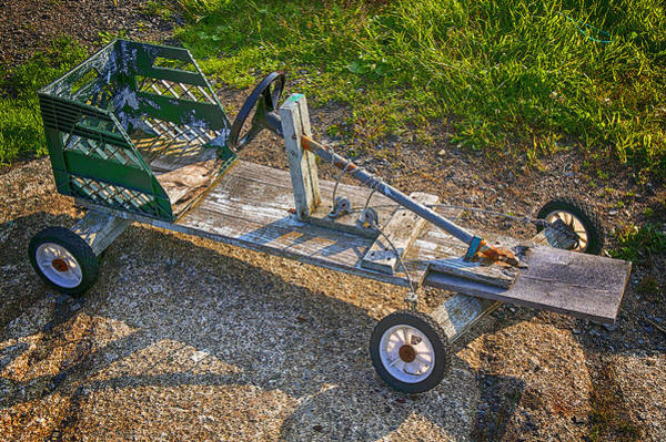 Craftsmanship Photograph - Home Made Go Kart by Garry Gay