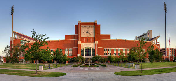 Wall Art - Photograph - Home Of The Sooners Panorama by Ricky Barnard